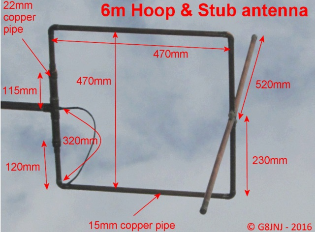 Halo and Stub antenna for 50MHz and 70MHz