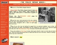 The Philco Repair Bench