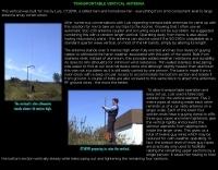 Portable vertical antenna