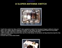 Antenna switch for sloper antennas