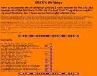 K6XX Amateur Radio articles