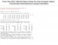 Sunspot number forecast