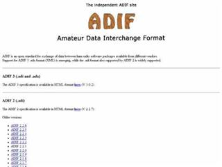 ADIF Specifications