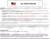 US Islands Award