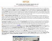 WM2U's MFSK Page
