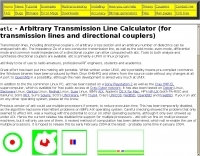 atlc - Arbitrary Transmission Line Calculator.
