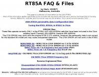 AWA RT85A (RT85) notes