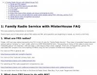 Family Radio Service with MisterHouse FAQ