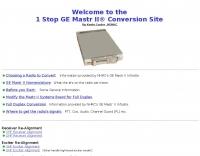 GE Mastr II conversion Site