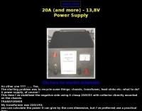 A 20 Ampere / 13,8V power supply
