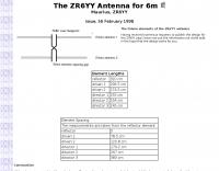 The ZR6YY 6m Yagi