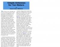 Simple Antennas for 10 Meters