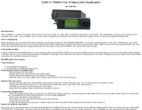 ICOM IC-706MKII Modification