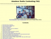 Amateur Radio Contesting FAQ