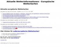 European weather charts