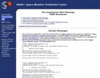 WWV -- SEC's Geophysical Alert Message