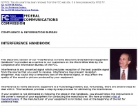 FCC interference handbook