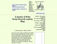 Bicycling  J-Pole 2-meter antenna