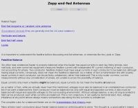 End-fed vertical j-pole and horizontal zepp vertical