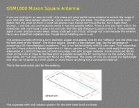 GSM1800 Moxon Square Antenna