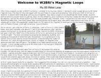 My 80 Meter Magnetic Loop