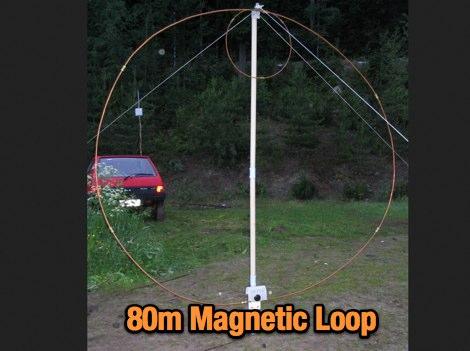 Magnetic loop for 80m