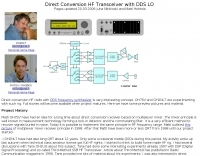 Direct Conversion HF Transceiver with DDS LO