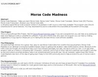 Morse Code Madness