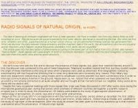Natural radio signals