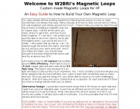 How to build your own Magnetic Loop