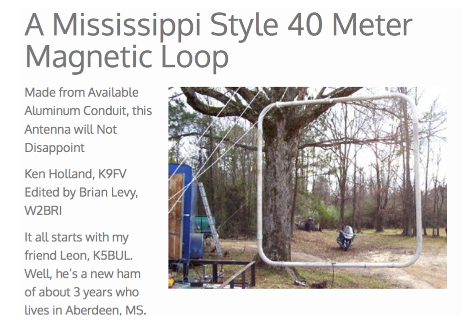 K9FV  40 meters band loop